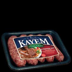 4 Pepper Hot Italian All Natural Sausage
