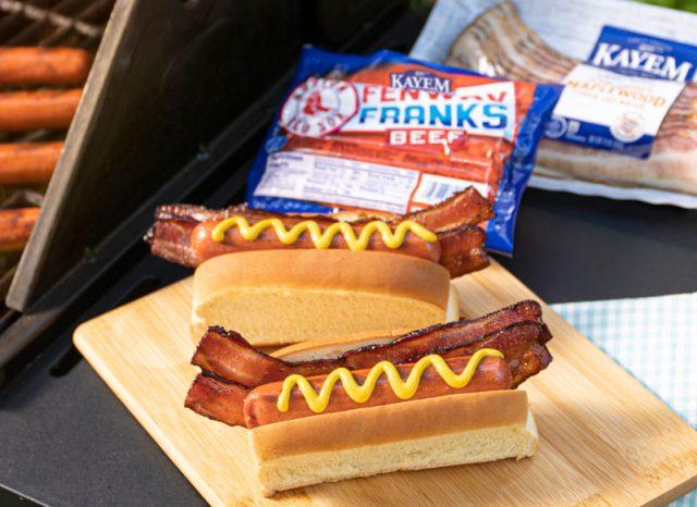 bacon-wrapped hotdog